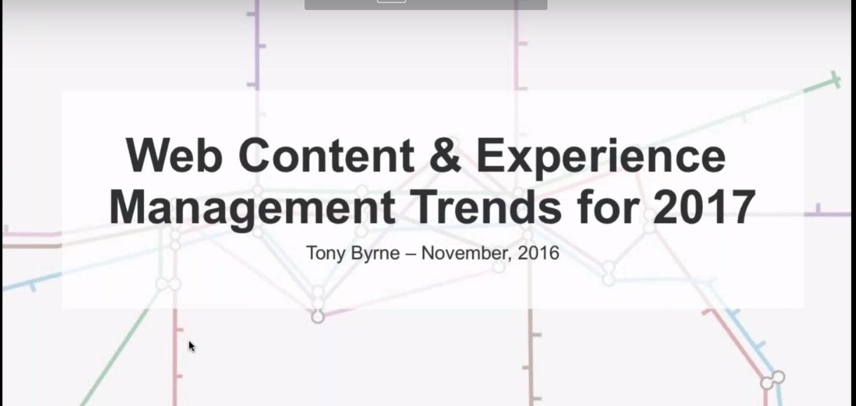 Web Content Management – Trends